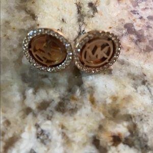 Micheal kors rose gold studs